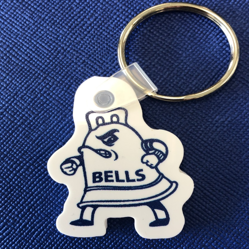 Key Ring (Blue and White Plastic)