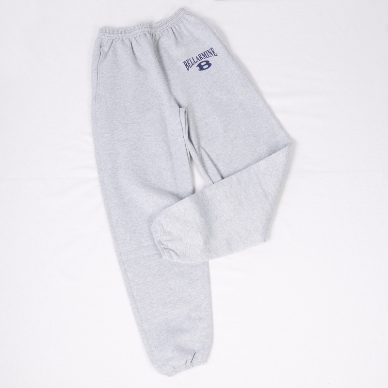 Grey Sweatpants with B on Pocket