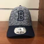 Navy & Grey B Baseball Hat