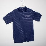 Navy Polo w/Stripes